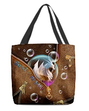 Stay out of my bubble Leather pattern print All-over Tote back