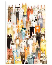 Colorful pile of cats 11x17 Poster front