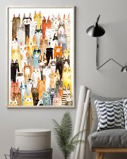 Colorful pile of cats 11x17 Poster lifestyle-poster-1