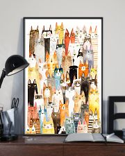 Colorful pile of cats 11x17 Poster lifestyle-poster-2