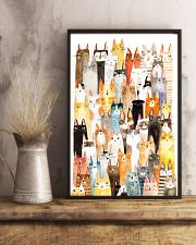 Colorful pile of cats 11x17 Poster lifestyle-poster-3