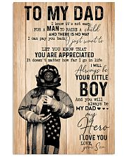 To my dad Father's day 11x17 Poster front