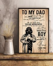 To my dad Father's day 11x17 Poster lifestyle-poster-3