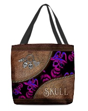 Cool Skull Faux Leather Tote  All-over Tote front