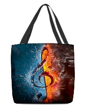 Fire water G-clef All-over Tote back