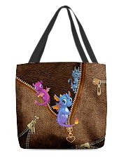 Dragon Leather Pattern Print All-over Tote back