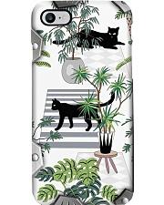 Cat Metal Pattern Print Phone Case i-phone-8-case