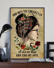 And into the library I go to lose my mind 11x17 Poster lifestyle-poster-2