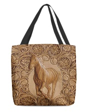 Horse Leather Pattern Print All-over Tote back