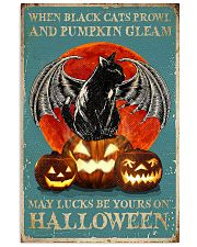 When black cats Halloween 11x17 Poster front