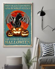 When black cats Halloween 11x17 Poster lifestyle-poster-1