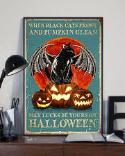 When black cats Halloween 11x17 Poster lifestyle-poster-2