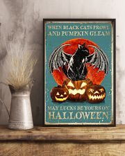 When black cats Halloween 11x17 Poster lifestyle-poster-3