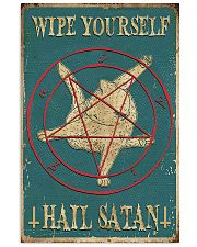 Wipe Yourself Hail Satan 11x17 Poster front