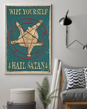 Wipe Yourself Hail Satan 11x17 Poster lifestyle-poster-1