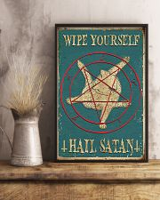 Wipe Yourself Hail Satan 11x17 Poster lifestyle-poster-3