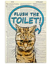 Flush the toilet 11x17 Poster front