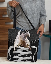 White dragon All-over Tote aos-all-over-tote-lifestyle-front-10