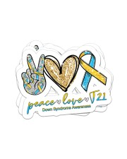 Peace Love T21 Sticker - 4 pack (Horizontal) front