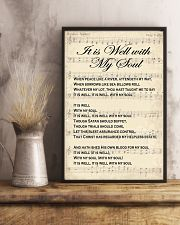 It is well with my soul Christian hymn lyrics 11x17 Poster lifestyle-poster-3