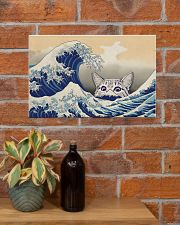 Great Wave Cat 17x11 Poster poster-landscape-17x11-lifestyle-23