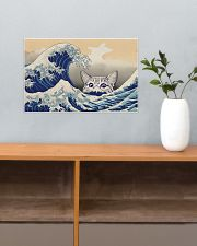 Great Wave Cat 17x11 Poster poster-landscape-17x11-lifestyle-24