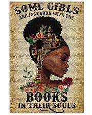 Some girls are just born with the books 11x17 Poster front