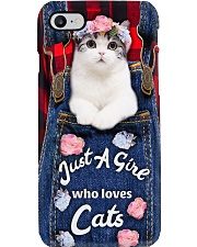 Just a girl who loves cats Phone Case i-phone-8-case