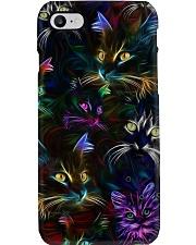 Cat neon Phone Case i-phone-8-case