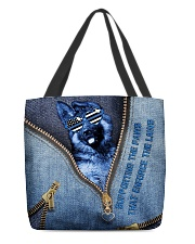 Supporting the paws that enforce the laws All-over Tote back