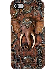 Elephant wooden pattern print Phone Case i-phone-8-case