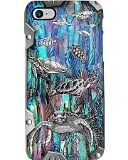 Turtle Lover Metal Pattern Print Phone Case i-phone-8-case