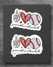 Peace Love Baseball Sticker - 4 pack (Horizontal) aos-sticker-4-pack-horizontal-lifestyle-front-10