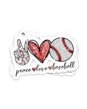 Peace Love Baseball Sticker - 4 pack (Horizontal) front