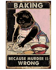 Baking because murder is wrong- 3600x5400 11x17 Poster front