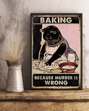 Baking because murder is wrong- 3600x5400 11x17 Poster lifestyle-poster-3