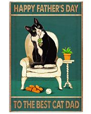 The best cat dad Father's day 11x17 Poster front