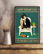 The best cat dad Father's day 11x17 Poster lifestyle-poster-3