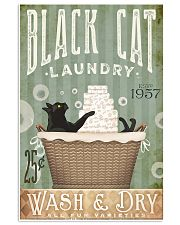 Black cat laundry 11x17 Poster front