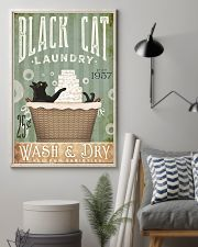 Black cat laundry 11x17 Poster lifestyle-poster-1