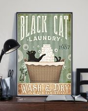 Black cat laundry 11x17 Poster lifestyle-poster-2