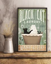 Black cat laundry 11x17 Poster lifestyle-poster-3