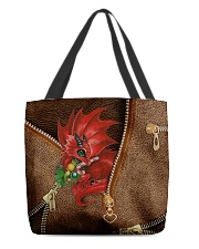 Dragon Lovers Christmas Leather Pattern Print All-over Tote front