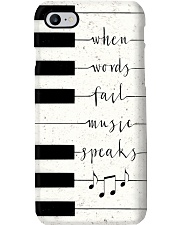 When words fail music speaks Phone Case i-phone-8-case