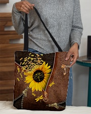 Dragonfly Leather pattern print All-over Tote aos-all-over-tote-lifestyle-front-10
