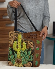 Love Cactus Leather Pattern Print All-over Tote aos-all-over-tote-lifestyle-front-10