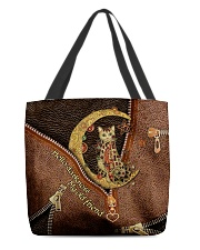 Moon and cat All-over Tote back