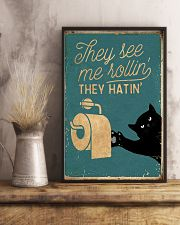 They see me rollin' they hatin' 11x17 Poster lifestyle-poster-3
