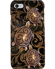 Turtle Lovers Metal Pattern Print  Phone Case i-phone-8-case