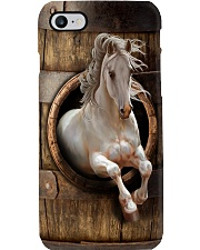 White Horse Wood Pattern Print  Phone Case i-phone-8-case